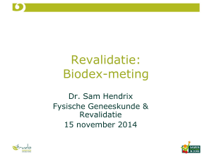 Revalidatie: Biodex-meting - Sint