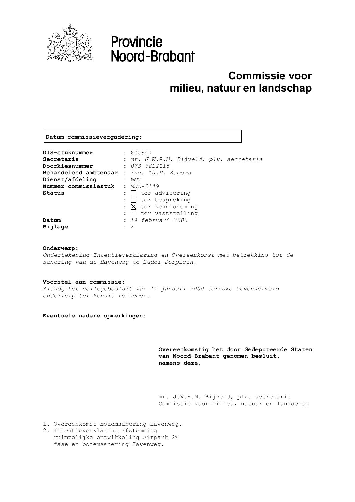 standaard intentieverklaring Standaard) Commissie voorbladen griffi   Provincie Noord