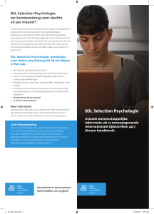 BSL Selection Psychologie