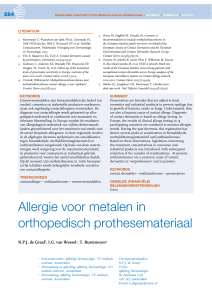 Allergie voor metalen in orthopedisch prothesemateriaal