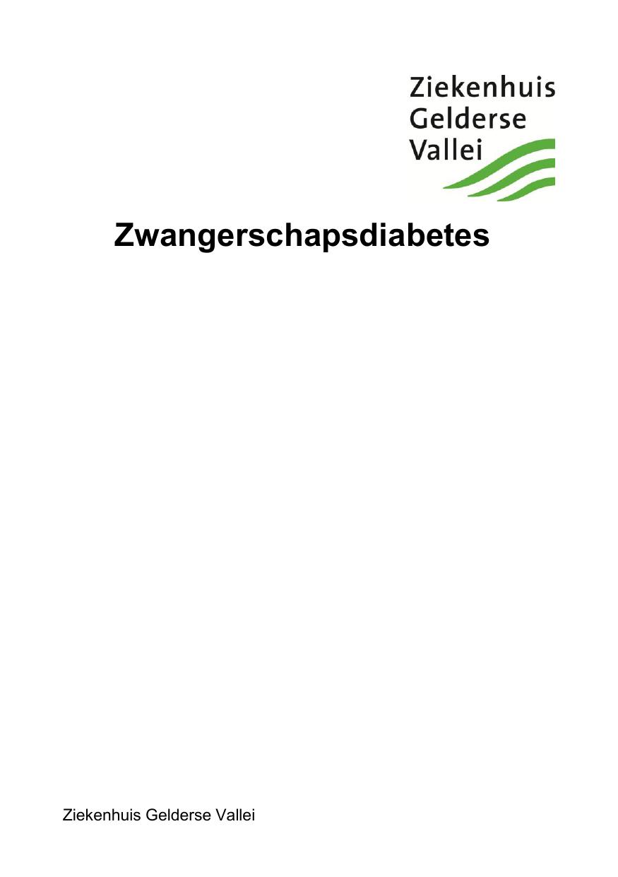 suikervrij dieet zwangerschapsdiabetes