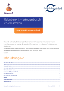 Spreekbeurt over de bank