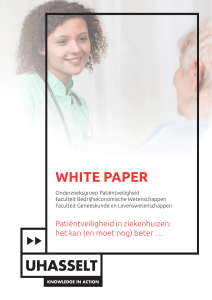 White paper patient safety 2017