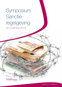 Symposium Sanctie regelgeving - Nederlands Compliance Instituut