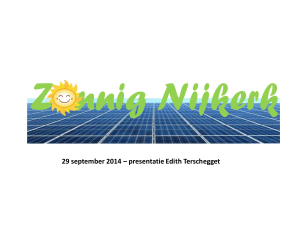 29 september 2014 * presentatie Edith Terschegget