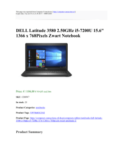 DELL Latitude 3580 2.50GHz i5-7200U 15.6