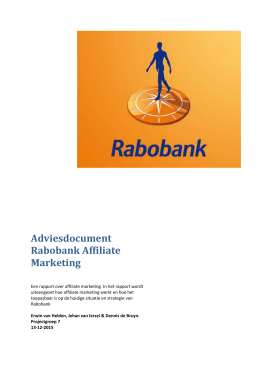 Adviesdocument Rabobank Affiliate Marketing