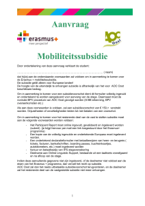 Contract Leonardo da Vinci mobiliteitssubsidie Call 2006