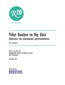 Tekst Analyse en Big Data