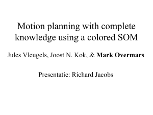 Motion planning with complete knowledge using a colored SOM