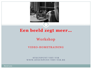 Opname VHT: Video-hometraining
