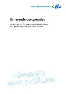 Sanerende ooroperaties