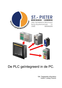 De PLC geïntegreerd in de PC.
