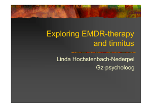 Exploring EMDR-therapy and tinnitus