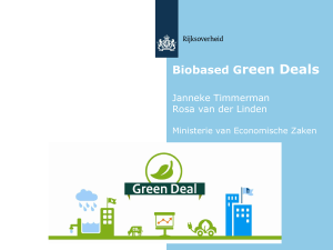 Lopende green deal