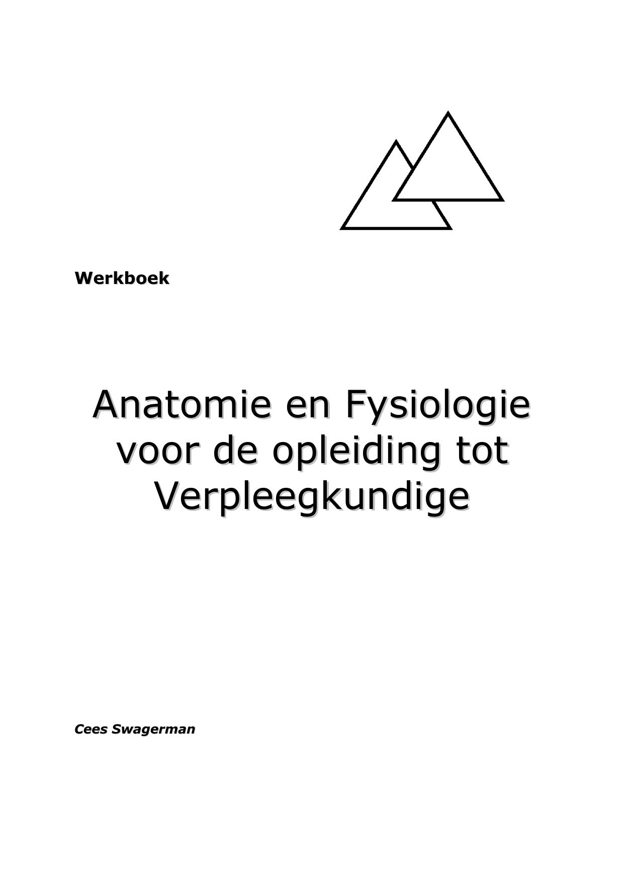 Anatomie voor Verpleegkundigen