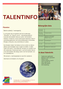 talentinfo - Het Talent
