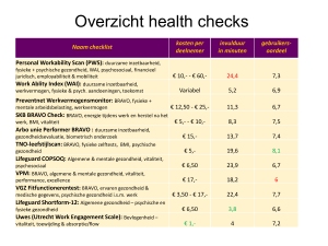 Overzicht health checks