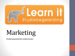 Product - Studiebegeleiding Learn it