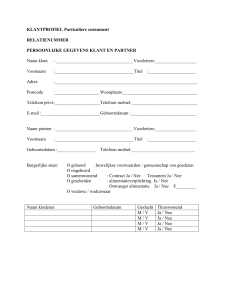 document - Methorst Assurantiën BV