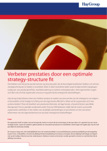 Verbeter prestaties door een optimale strategy-structure fit