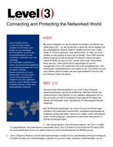 Connecting and Protecting the Networked World