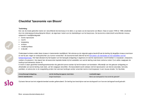 Checklist voor taxonomie Bloom
