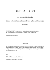 de beaufort - Utrecht University Repository