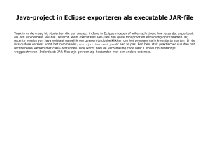 Java-project in Eclipse exporteren als executable JAR-file
