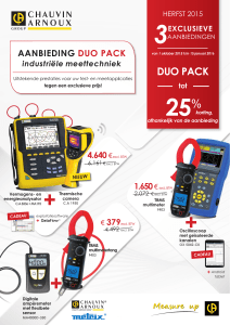 DUO PACK - Chauvin Arnoux