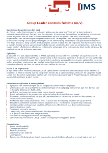 Group Leader Controls fulltime (m/v)