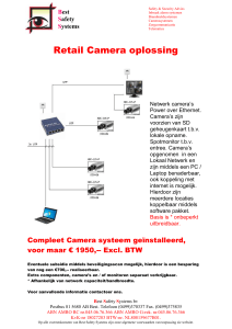 Best Safety Systems Retail Camera oplossing Netwerk camera`s