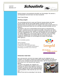 Schoolinfo 6 april 2017 - Meester S. Wijbrandischool
