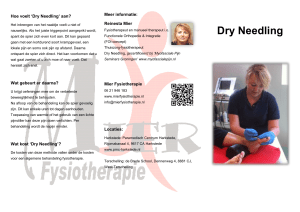Dry Needling - Mier Fysiotherapie