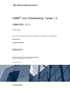 CMMI voor Ontwikkeling V1.3 - Software Engineering Institute