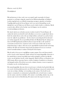 artikel verschenen in Elsevier, week 42, 2011