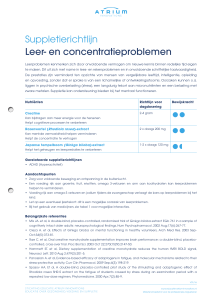 Suppletierichtlijn Leer- en concentratieproblemen
