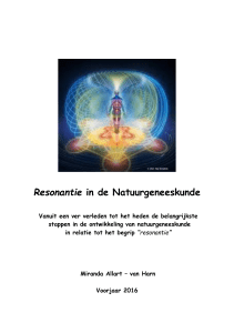Resonantie in de Natuurgeneeskunde