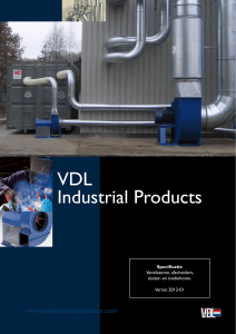 Product specificaties - VDL Industrial Products