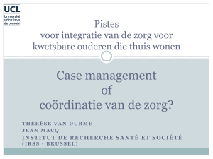 case management of coördinatie van de zorgverlening