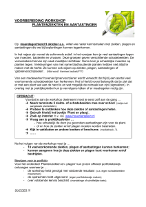 voorbereiding workshop - Community Groen Kennisnet