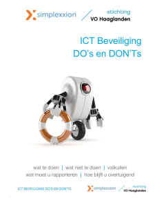 ICT Beveiliging DO`s en DON`Ts