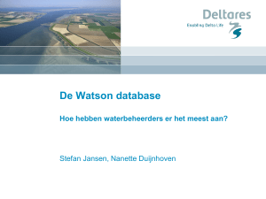 De Watson database - Emissieregistratie