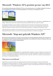 Windows XP Stopt