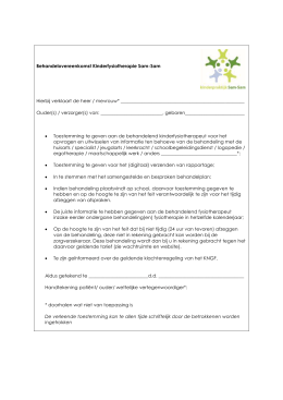 Behandelovereenkomst Kinderfysiotherapie Sam-Sam