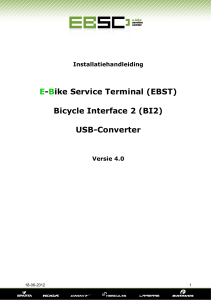 E-Bike Service Terminal (EBST) Bicycle Interface 2 (BI2