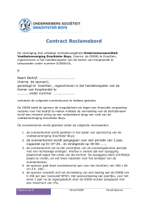 Leeg contract Reclamebord