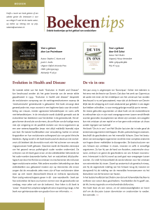 Het v Evolu Het s De vis in ons Evolution in Health and Disease