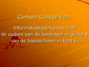 Geen diatitel - Connect College