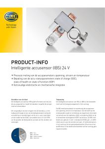 Intelligente accusensor (IBS) 24 V van HELLA
